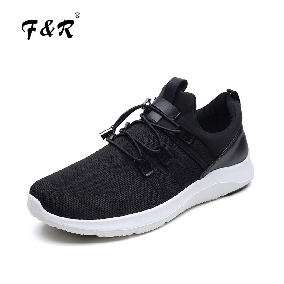 F&R Outdoor Men Mesh Breathable Running Shoe Soft Comfortable Men Trainer Sneakers Lightweight Sports Jogging Tennis Shoes 39-44