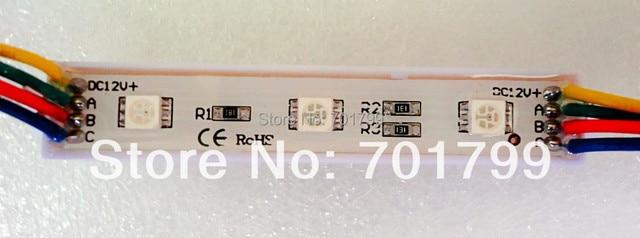 promotion! 5050 SMD RGB LED module, DC12V input, waterproof,20pcs a string