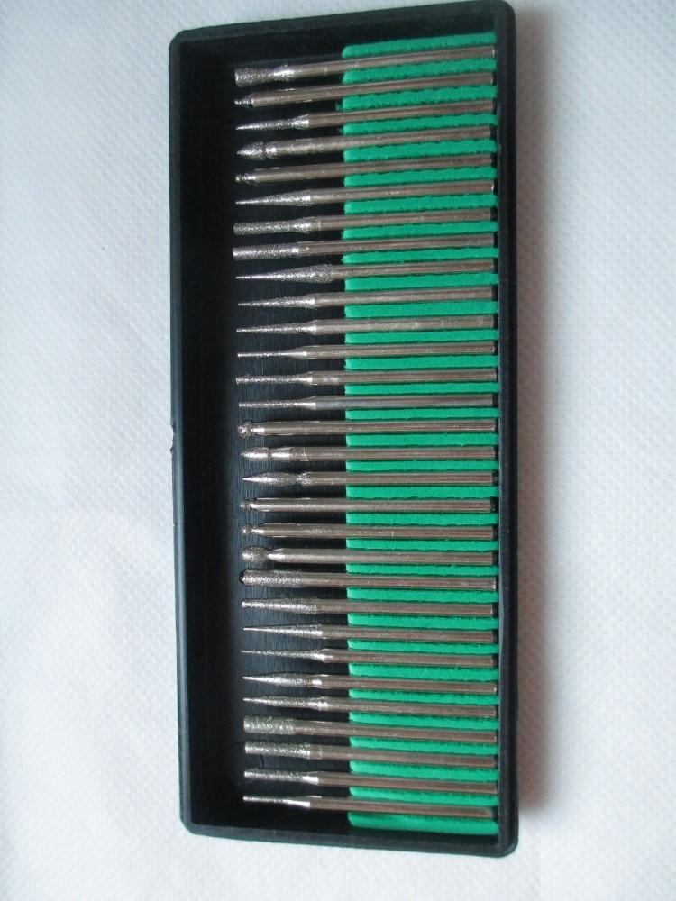 30 / бр. 3мм диамантен борс Dremel въртящ се - Абразивни инструменти - Снимка 4