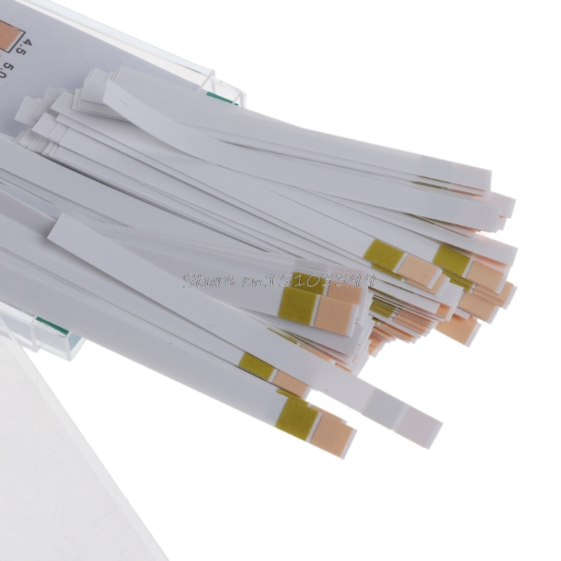 100 Strip Two Color Saliva Slaver For Urine Pregnancy Test Paper PH 4.5 9.0 Include Packcing Box -B119
