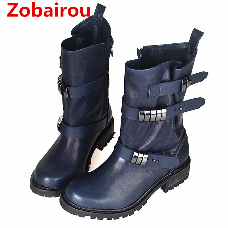 Genuine Leather Women Motorcycle Boots Winter Vinatge Style Short Riding Boots Flats Shoes Woman  Ankle Booties Botas StockingsGenuine Leather Women Motorcycle Boots Winter Vinatge Style Short Riding Boots Flats Shoes Woman  Ankle Booties Botas Stockings