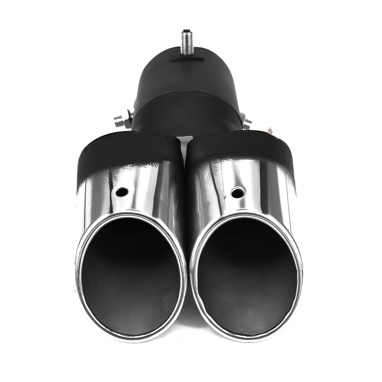 Tip Exhaust Pipe Stainless Steel Car Adjustable Glossy Universal Motorcycle Chrome Curve Dual outlet|Exhaust Manifolds| |  - title=