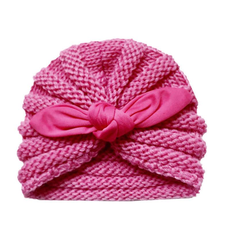 Вязаная зимняя детская шапка для девочек, Яркая Цветная шапочка Enfant, детская шапочка-тюрбан, шапки для новорожденных шапка для мальчиков, аксессуары