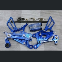 For Yamaha YZF R125 R 125 YZF R125 2008 2013 CNC Adjustable Rearsets Rear Set Motorcycle Footrest 8 Colors Moto Pedal 2012 2011