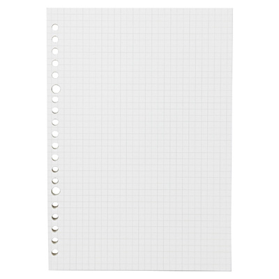 muji a5 graph paper loose leaf spiral notebook refill 100 sheets