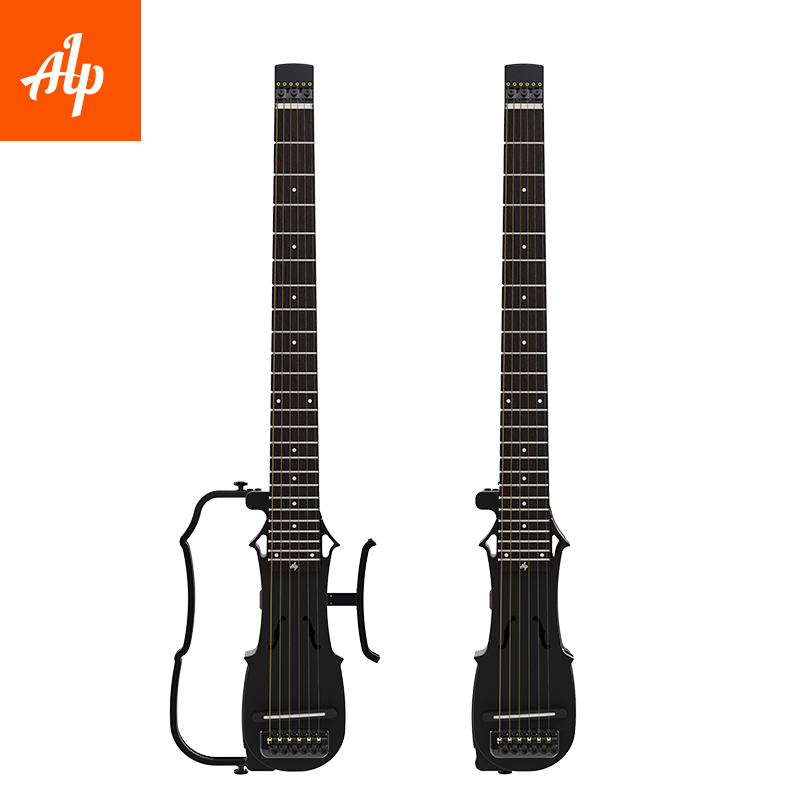 New Arrival ALP acoustic guitar DRA300 foldable headless with Shadow pickup system travel acoustic guitar portable цены