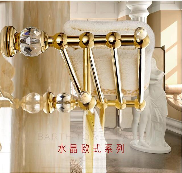 New Arrival Crystal Towel Rod Rack Shelf Fashion Bathroom Accessories Luxury Bath Holder