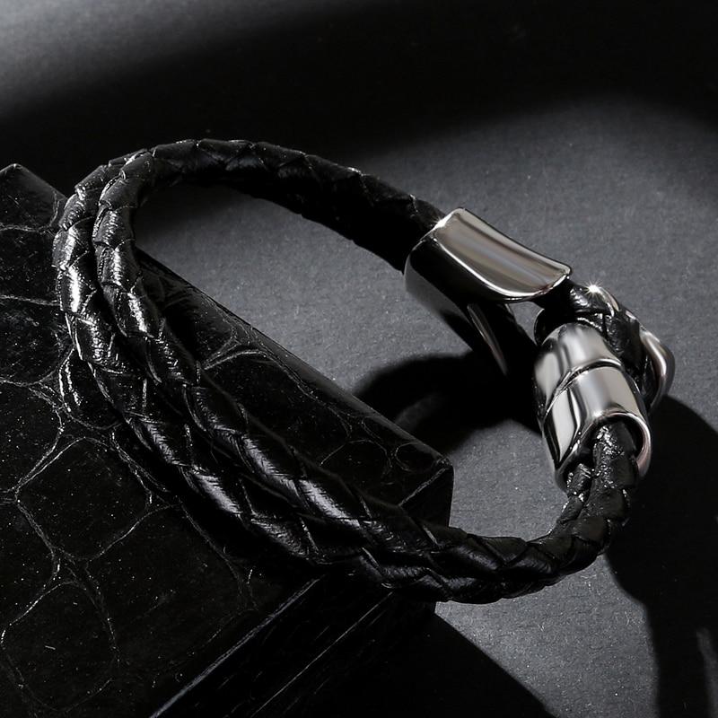 Bracelet tête de mort en acier inoxydable 3
