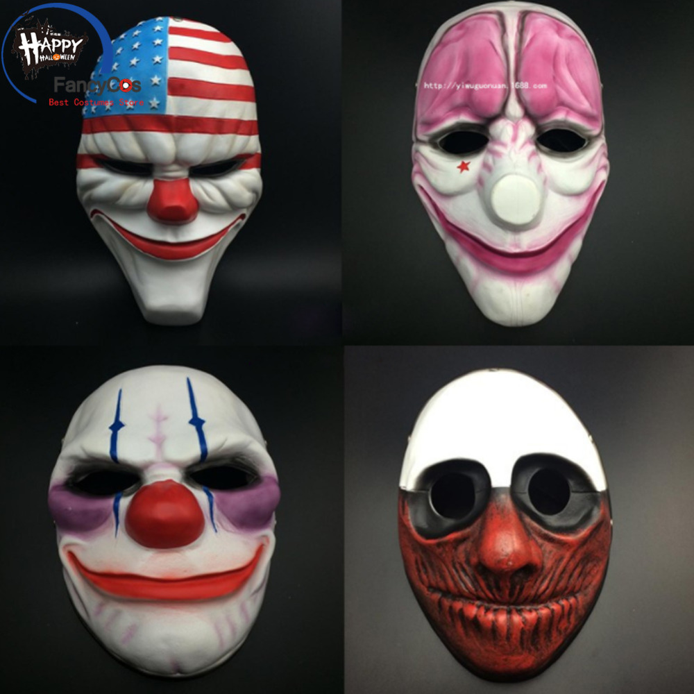 Payday 2 Halloween Chains Costume Mask High Quality Resin Clown Prop Cosplay