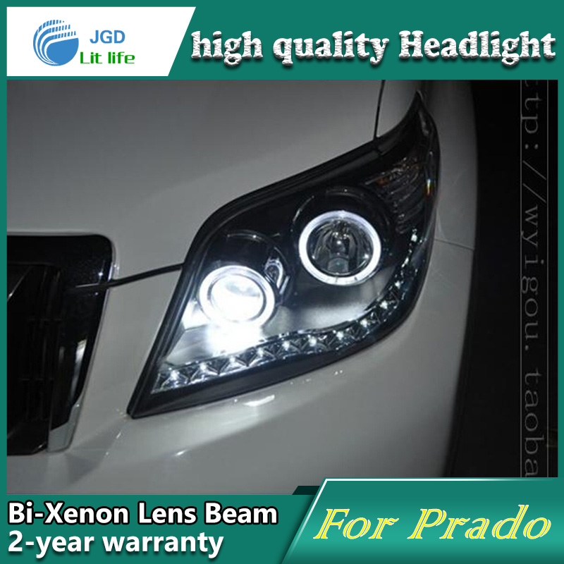 Car Styling Head Lamp case for Toyota Prado 2012 LED Headlights DRL Daytime Running Light Bi-Xenon HID Accessories special car trunk mats for toyota all models corolla camry rav4 auris prius yalis avensis 2014 accessories car styling auto