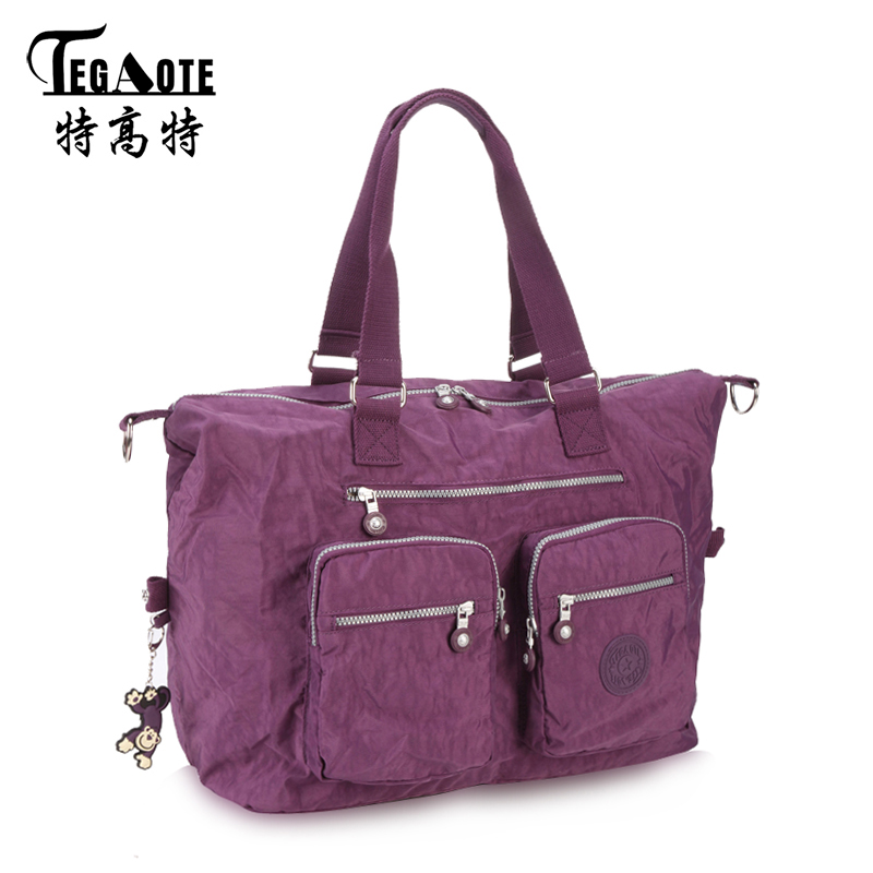 TEGAOTE Women Messenger Bag Ladies Crossbody Bags Waterproof handbags Nylon Large Top-handle Shoulder Bag Female Bolsa Feminina zhuoku 2017 women waterproof nylon bags for woman handbags strap large capacity travel stroller bag brand bolsa feminina wh253