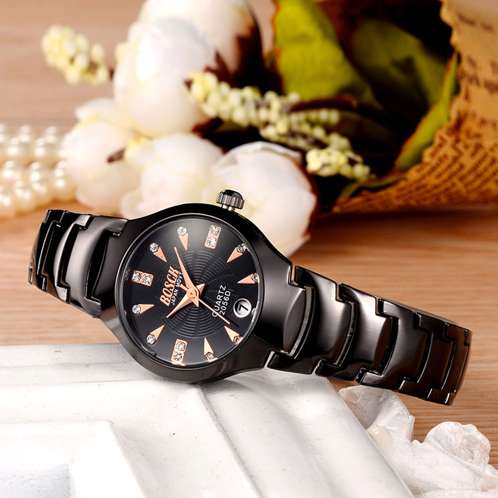 Luxury Top Brand Women s Watch calendar Stainless Steel Ladies waterproof Clock Dress Women Casual Quartz