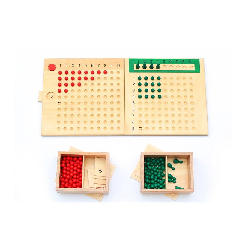 En bois Montessori infantile jouets Montessori Multiplication Division perle conseil ensemble éducatif début apprentissage jouets YH1765H