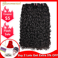 Malaysia Kinky Curly Human Hair Double Drawn 1/3/4 Bundles Funmi Hair Extension Pixel Curly Double Drawn Remy Hair For Women 1b