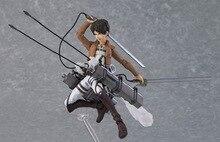 Titan Eren Yeager  Figma 207 PVC action Figure Shingeki no Kyojin  Mikasa