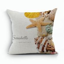 RUBIHOME Sea Marine Beach Passionate Decorative Cushion Cover Throw Pillowcase Polyester Home Decor Sofa Scandinavian style
