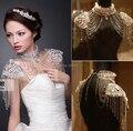 2014 Nueva Llegada Rhinestone Nupcial collar de la joyería de cadena del hombro del cordón del hombro de boda Partido Del collar