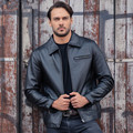 2017 New Men Black Genuine Leather Jacket Turn-down Collar Real Thick Cowhide Plus Size XXXL Men Winter Short Coat FREE SHIPPING