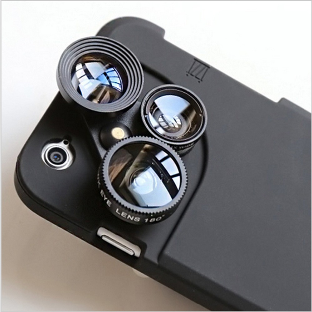 big sale 6c0da 2d674 US $38.8 |Phone Lens Cases for Iphone 5 6s plus Case Camera Selfie Rotating  Lens Cover Fisheye Wide angle Macro Photo Phone Accessory SL97 on ...