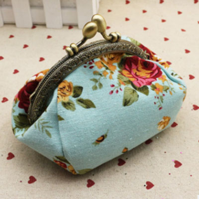 Fashion Sailboat On The Sea Cash Buckle Coin Purse For Womens