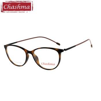 93033a1122 Chashma marca estudiante gafas lentes opticos mujer ojo de gato elegante  TR90 Marco de luz las mujeres gafas marco óptico