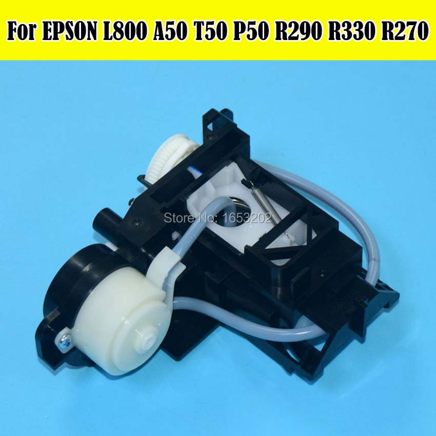 все цены на  1 PC 100% NEW Original Capping Station & Pump Assembly For EPSON L800 L801 A50 P50 T50 R270 R330 R290 Printhead Cleaning Unit  онлайн
