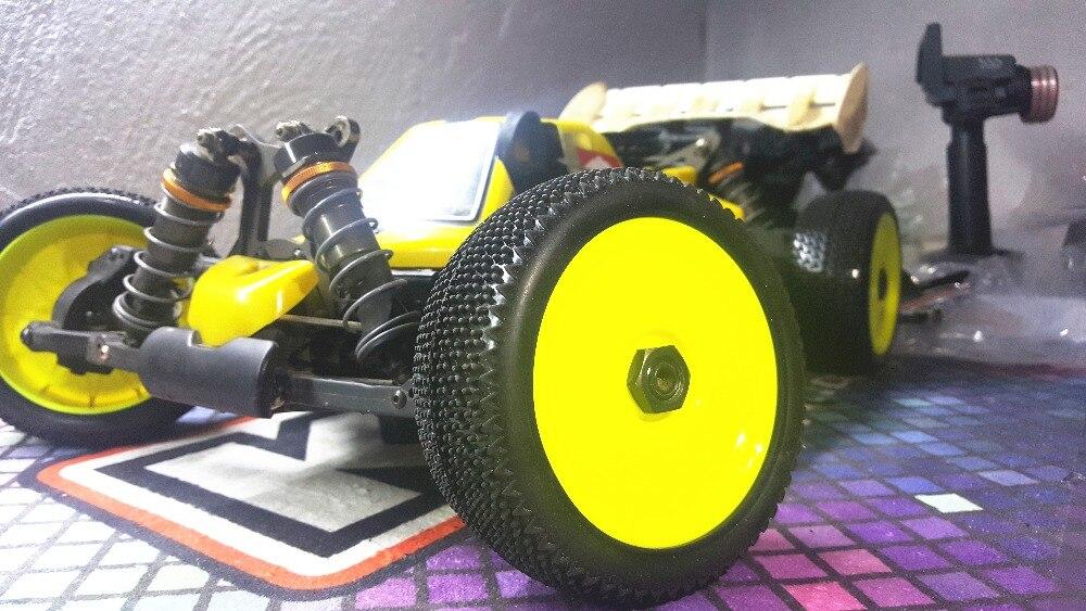 4 шт. GWOLVES 1/8 RC багги Грузовик внедорожные шины нейлон плюс Жесткий колеса тяги конкурс практика для 1/8 RC части автомобиля