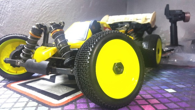 4pc GWOLVES 1/8 RC Buggy Truck Off-Road Tyre Nylon plus hard Traction wheels Contest practice  for 1/8 RC car parts