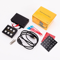 12V/24V 6 Gang Multifunction Waterproof Thin ABS For Car Marine Boat Panel Switch Slim Led Box Easy Installation Control