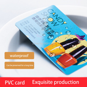 Image 3 - Pvc名刺パーソナライズデザイン 200 個/500 個マット顔/白インク透明なプラスチックの名刺印刷 85.5*54 ミリメートル