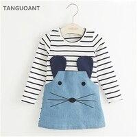 Tanguoant striped patchwork vestidos de niña ...