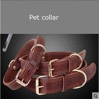 Vật nuôi cổ áo da bò thật dog collar