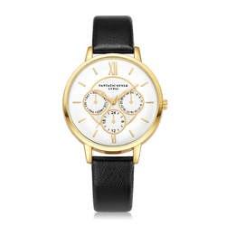 Кварцевые часы аналоговые наручные часы женский темперамент кожаный ремень с имитацией кварцевые круглые часы Relogio Feminino Прямая доставка