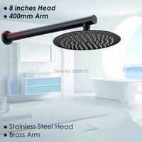 Smesiteli Simple Style Wholesale Round Thin 8 Rainfall Shower Head 400mm Brass Wall Arm Set Matte