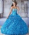 2016 Sexy princesa Quinceanera Vestido sem alças em camadas Ruffles doce 16 Dresses Vestido De Debutante pará 15 Anos