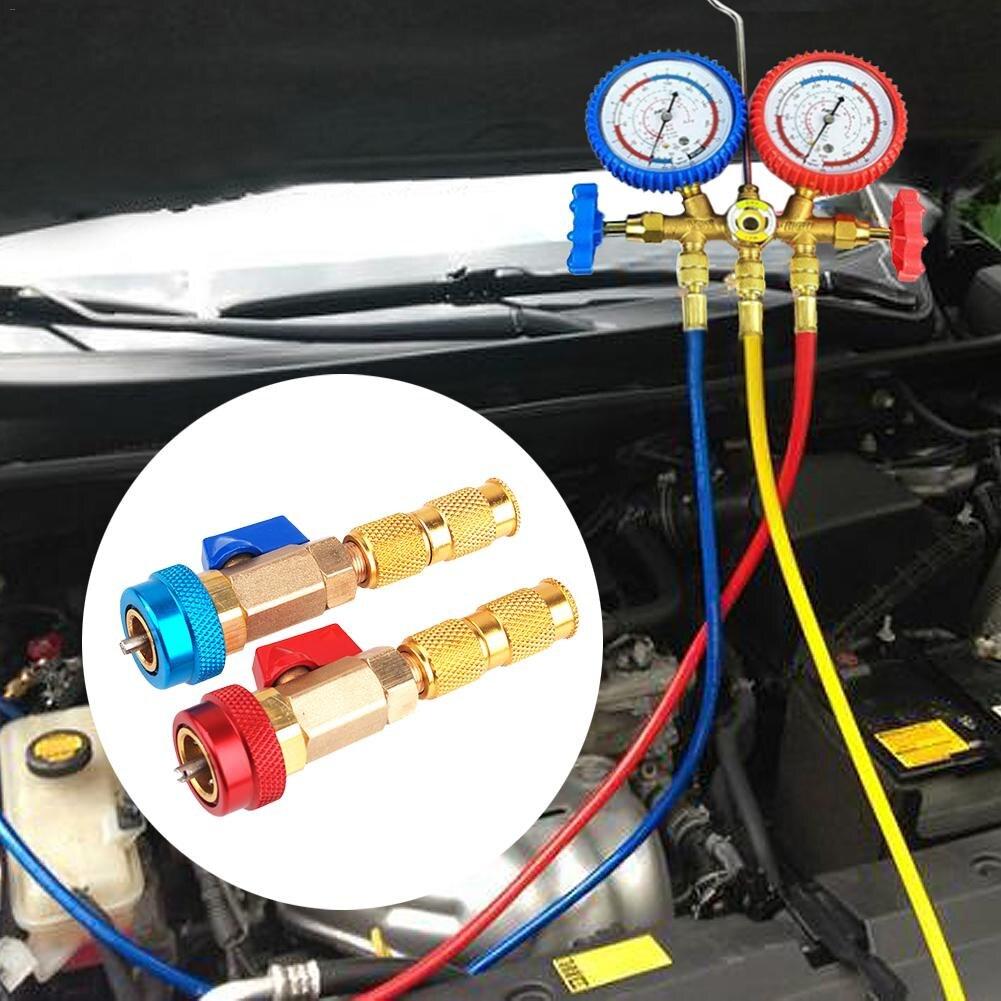 Klimatyzacja samochodowa uniwersalna klimatyzacja R134A rdzeń zaworu szybkie usuwanie instalator wysokie niskie ciśnienie Repair Tool Instalacja klimatyzacyjna    -