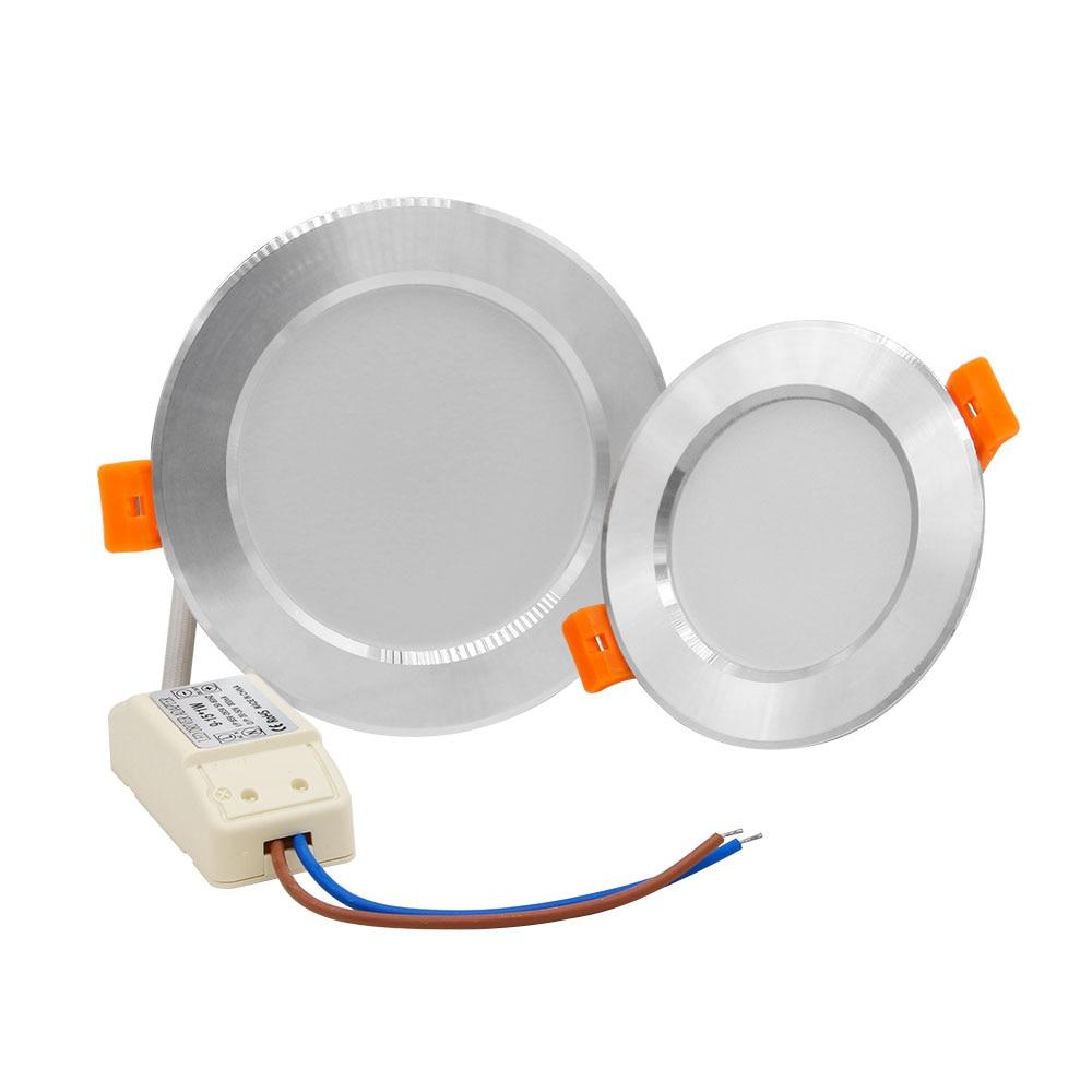 Round LED Ceiling Recessed Downlight 12W 10W 7W 5W AC 110V/220V led Ceiling Lights Bedroom Kitchen Indoor Lighting