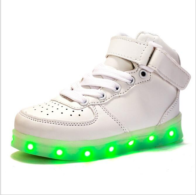 LED Light Shoes Glowing Sneakers Ankel Boots Kids Boys Girls Toddler/Little Kids/Big Kids Flashing Rechargeable Color Luminou glowing sneakers usb charging shoes lights up colorful led kids luminous sneakers glowing sneakers black led shoes for boys