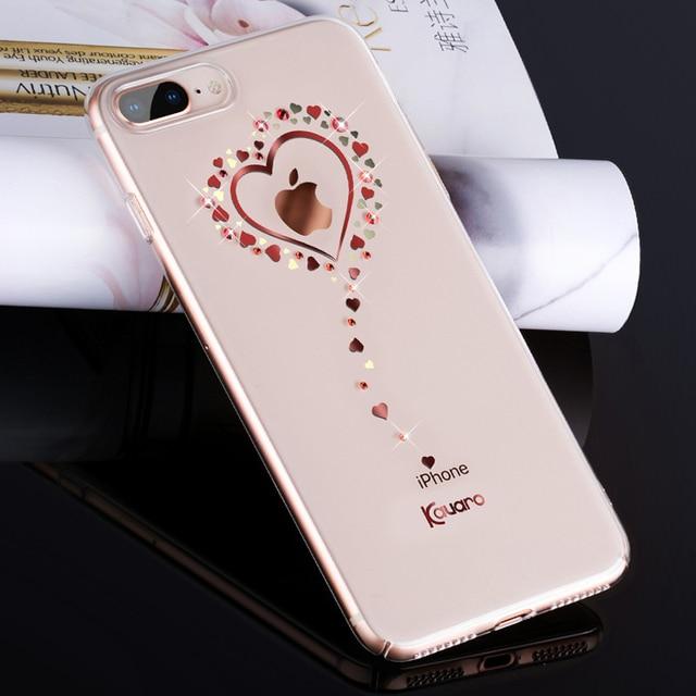 KAVARO for iPhone 8 Plus 7 Plus Case Swarovski Element Crystals Diamond  Glitter Plated PC Case for iPhone 7 Plus Cover Coque 53412a113e