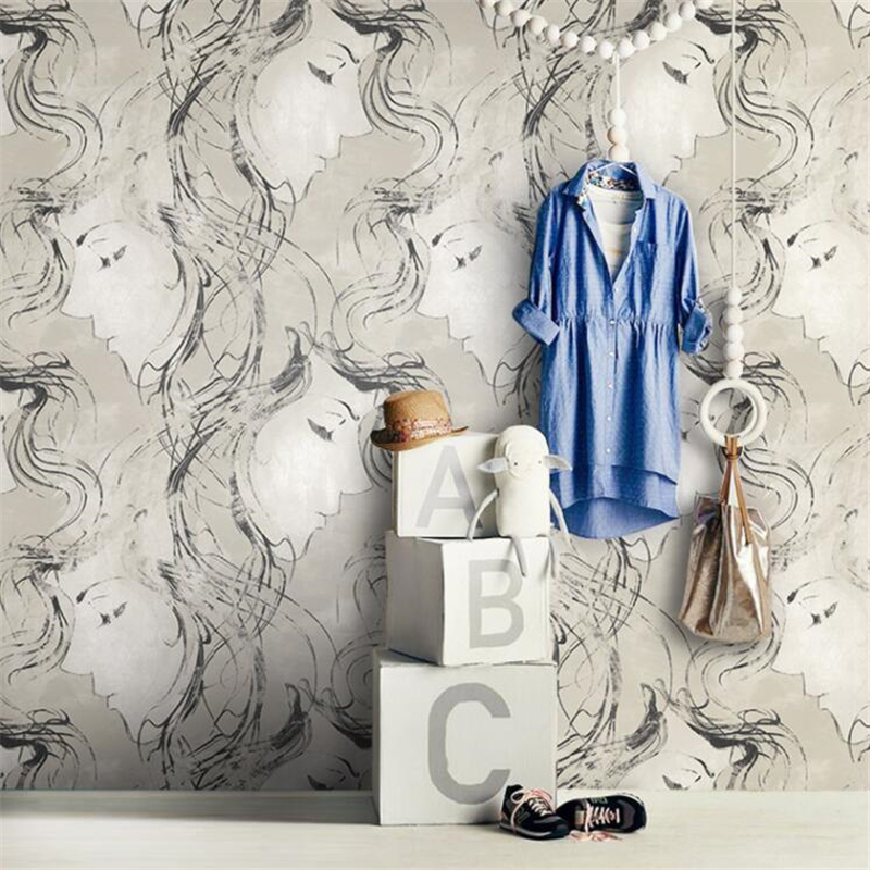 Wellyu Moderne minimaliste mode beauté papier peint croquis personnalité créatrice magasin de vêtements barber cafe fond d'écran