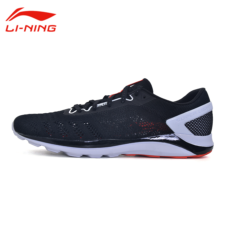 Li-Ning Men's Super Light Breathable Running Shoes Li Ning Cushioning Outdoor Sports Sneakers Light Running Shoes ARBM019 original li ning men professional basketball shoes