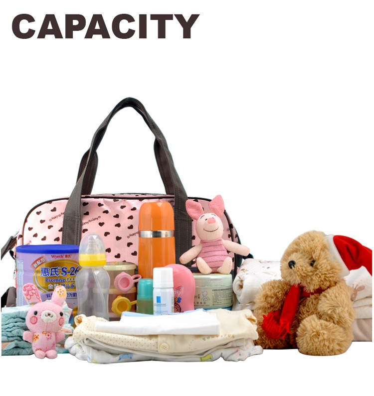 insular multifunctional diaper bags maternity mummy handbag baby care stroller bag High capacity mother Messenger nappy bags 6