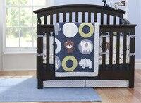 Акция! 7 шт. вышитые хлопок кроватки Постельные принадлежности кроватка бампер набор для детской кроватки кроватка белье, включают (бампер +