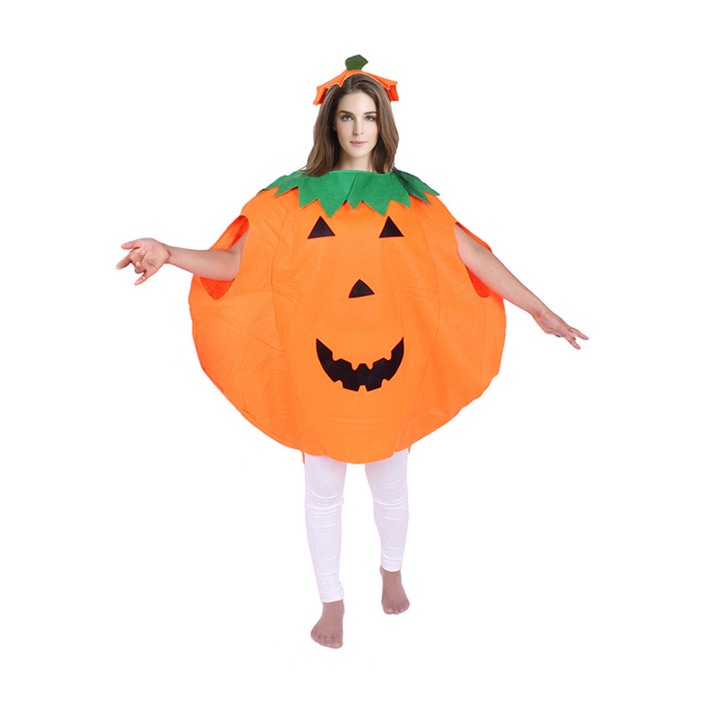 Woweile #3001 Adult Women Men's Pumpkin Outfit Clothes Halloween Costume