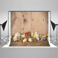 Easter Photography Background Protein Color Flowers Party Photo Backdrops Striped Wood Wall Easter Backgrounds For Photo