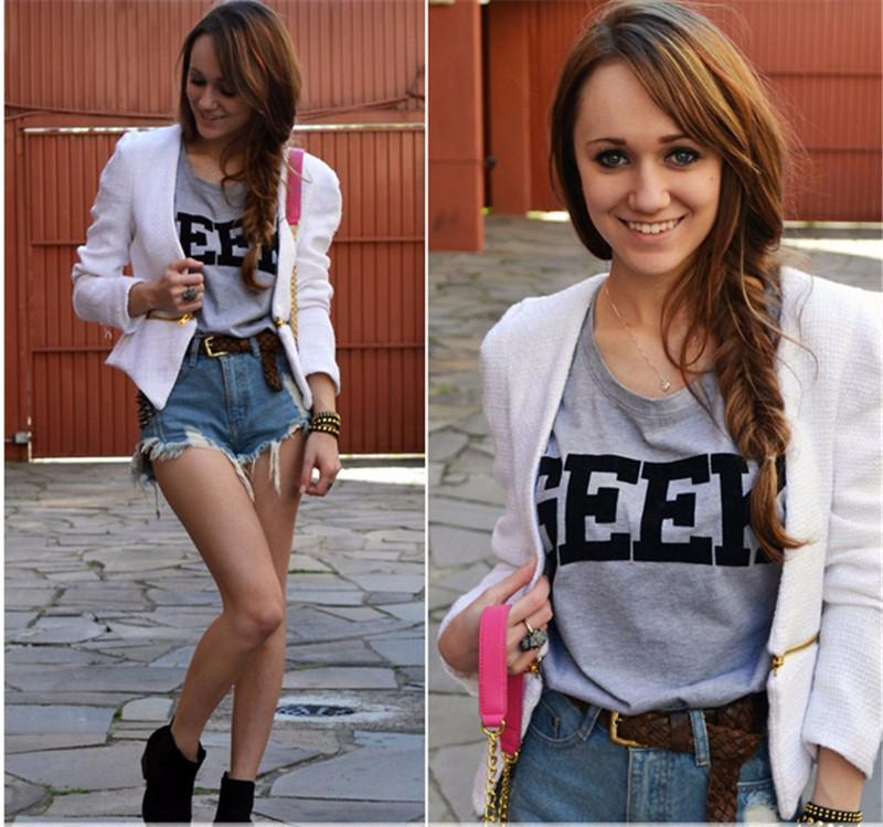 HTB1C07lKXXXXXXsXXXXq6xXFXXXu - Summer Style Geek Letter Print T Shirt Women