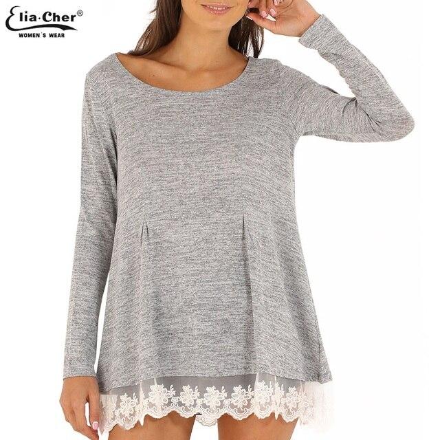 Camisola Das Mulheres Pullover Inverno 2016 Senhora Inverno Malha Patchwork Rendas Camisola Marca Plus Size Casual Jumper Camisola Das Mulheres Tops