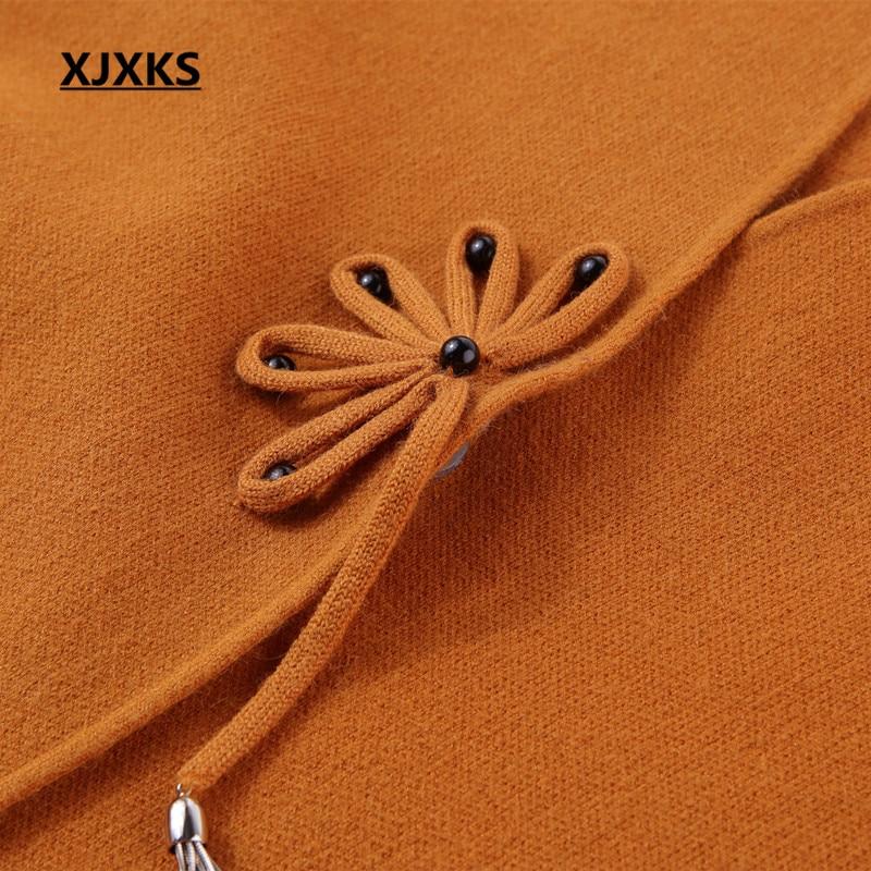 Automne Xjxks bourgogne Manteau Manches Bleu Solides orange Unique Outwear Gris 8057 marine Green Bouton Chandails Cardigan Veste Cardigans Hiver rouge Longues army Femmes Longue qAECgArxw