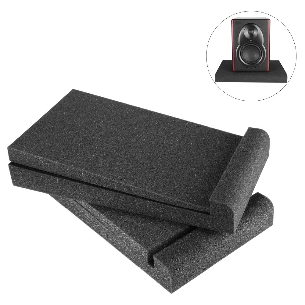 Neewer 2 Packs Studio Monitor Isolation Pads For 5 Inch Monitors, Made Of High Density Acoustic Foams, 11.4 X 6.3 Inch/29 X 16cm