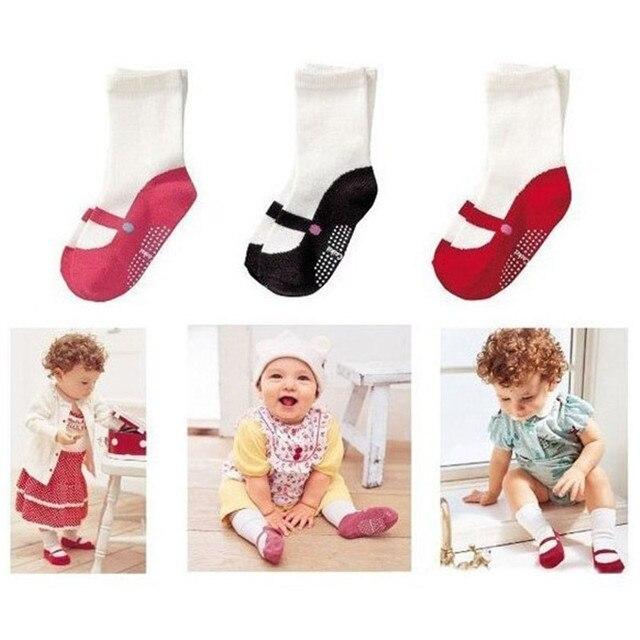 1 pair Bé Mid-bê Chiều Dài Vớ Trẻ Sơ Sinh Toddler Giày Nhà Nhảy Múa Ba Lê Vớ Vớ Cotton Thoáng Khí Công Chúa Vớ Giáng Sinh quà tặng
